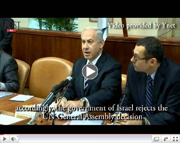Cabinet passes resolution rejecting UN 'Palestine' decision