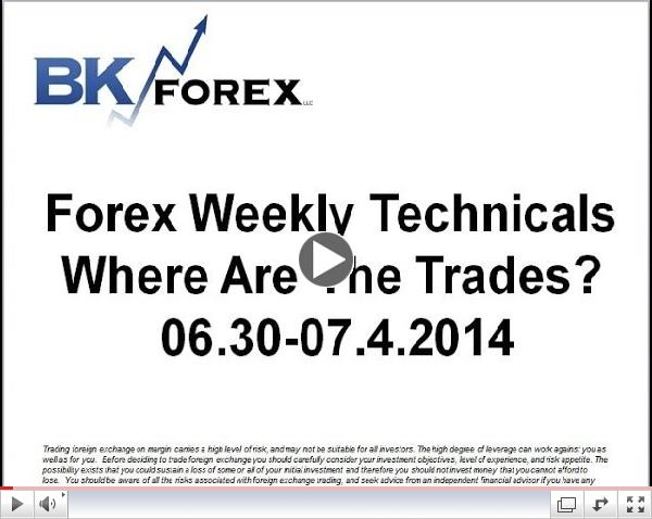 Forex Weekly Techs Where Are The Trades?  06.30-07.4.2014