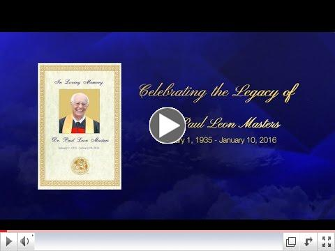 Celebrating the Legacy of Dr. Paul Leon Masters