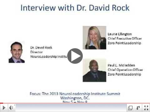 in-SIGHT TV interviews Dr. David Rock, Director of the NeuroLeadership Institute