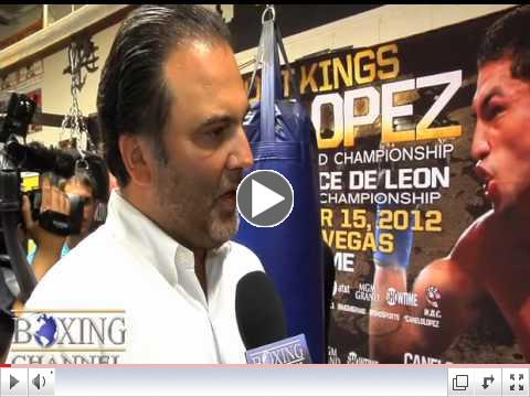 Richard Schaefer nervous that Josesito Lopez might upset Canelo Alvarez