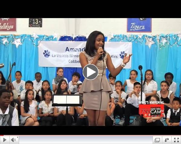 WH: Amanda Mena Performing at Cobbet Elementary - June 11, 2014