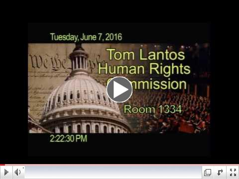 Video of Musaddique Thange (IAMC) testifying at the Tom Lantos Human Rights Commission hearing on human rights in India