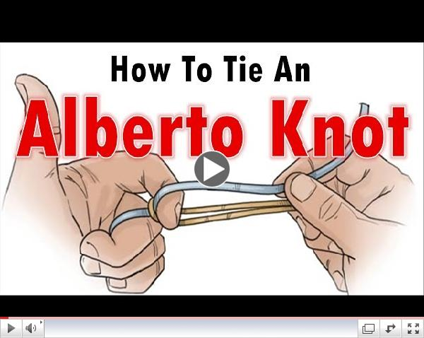 How To Tie A Fishing Knot/ How To Tie An Alberto Knot/Fluoro To Braid/Mono To Braid