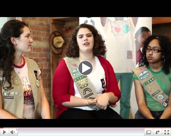 Girl Scouts Talk Leadership
