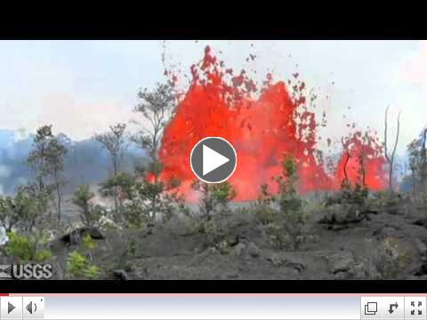 Hawaii Volcano - 2011 Kamoamoa fissure eruption
