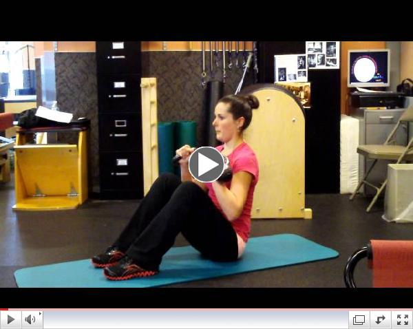Roll Back Variation with Kettlebells