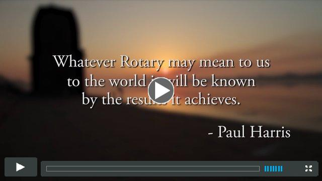 Rotary's Vision for a Better World