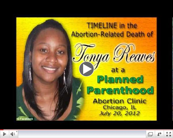 Timeline in the Abortion Death of Tonya Reaves