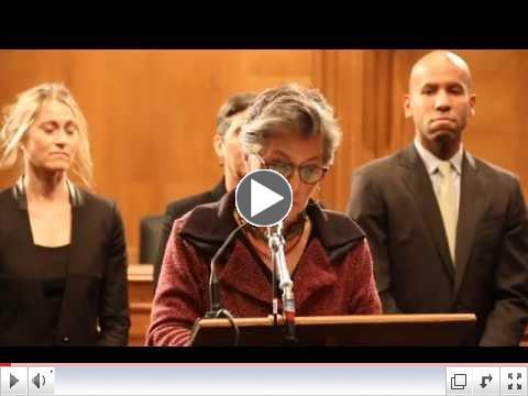 Senators Boxer and Markey TSCA Reform Press Conference