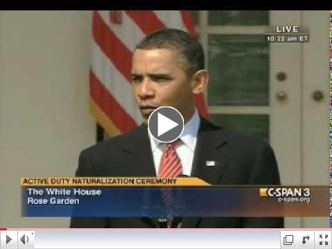 President Obama Regarding Arizona's SB 1070