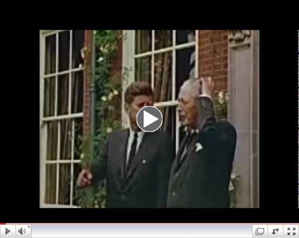 June 29-30, 1963 - President John F. Kennedy visits Harold Macmillan, Birch Grove House, Sussex