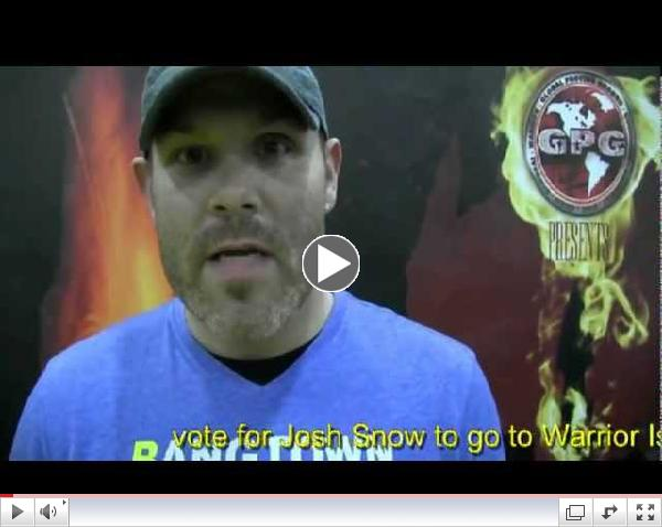 Josh Snow Warrior Island Tryout Video for Global Proving Ground