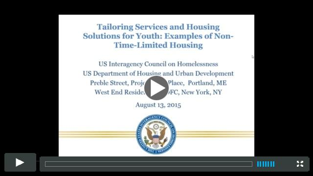 Webinar: Non-Time-Limited Housing for Youth