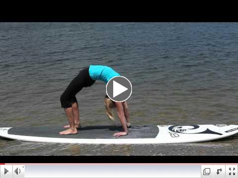 Stand Up Paddle (SUP) Yoga Tutorial: How to do ADVANCED WHEEL POSE