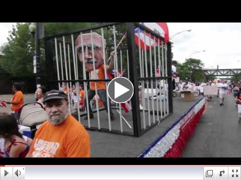 Oscar Lopez Rivera Present at Puerto Rican Peoples Parade 2012