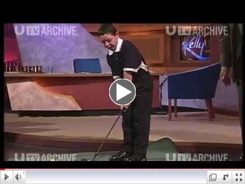 8 years old Rory McIlroy on late night TV