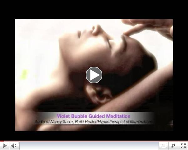 Violet Bubble Guided Meditation by Nancy Saber