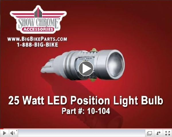 25 Watt  LED Position Bulb for Honda Gold Wing GL1500
