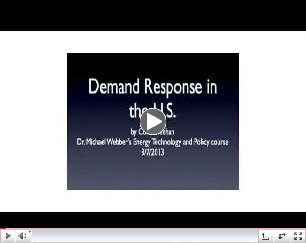 Demand Response in the US