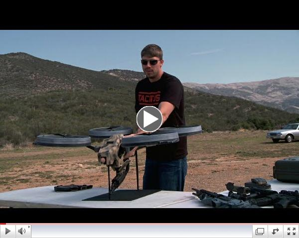 Prototype Quadrotor with Machine Gun!