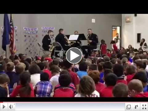 The US Navy Band saxophone quartet plays the Blues!