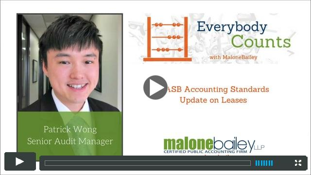 FASB Accounting Standards Update on Leases