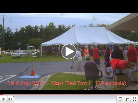 2017 Yard Sale Time Lapse Video
