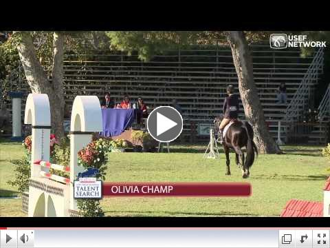 Olivia Champ Wins the Show Jumping Talent Search Finals West