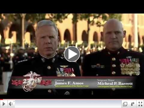 For Honor, For Country: 2012 Marine Corps Birthday Message