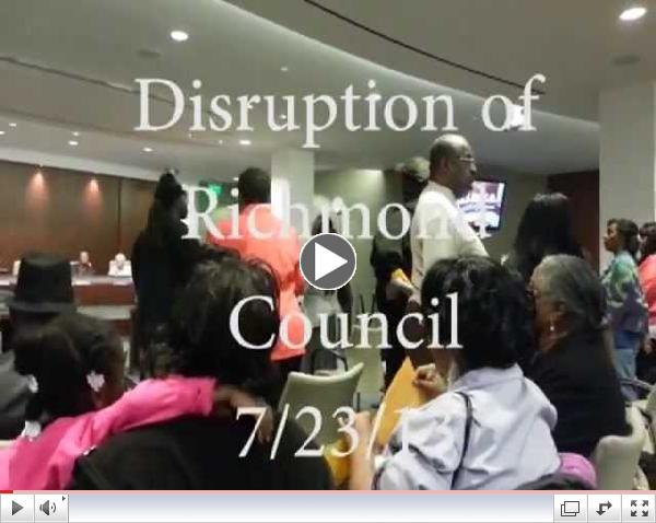 Richmond Council Disruption 7/23/13
