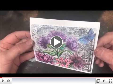 Watercoloring with Glitter Gloss
