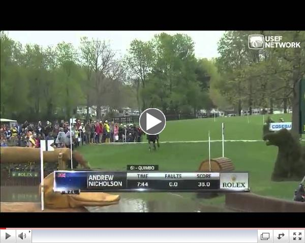 Andrew Nicholson & Quimbo - Rolex 2013 Cross Country