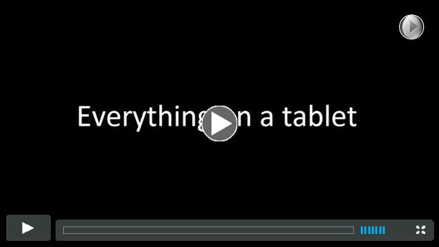 Everything on a tablet - White House Video Project