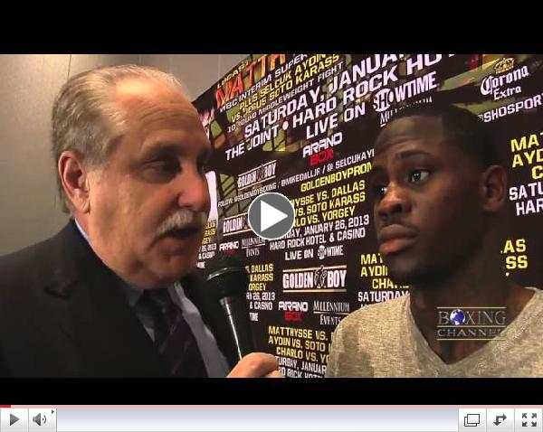 Mike Dallas Jr. sees his upcoming fight against Matthysse as an opportunity to become the best.