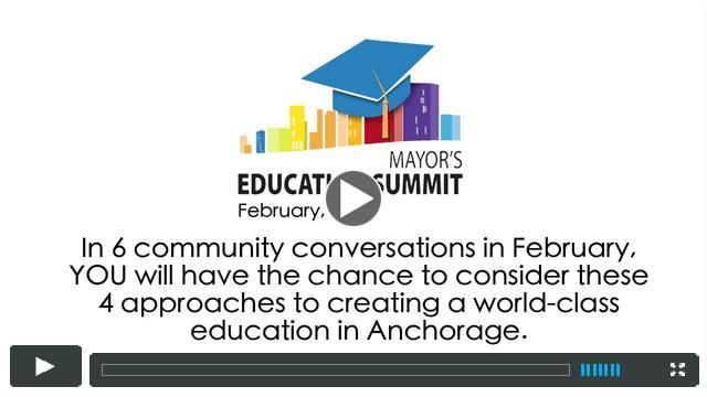 Mayor's Education Summit Community Conversation Invitation