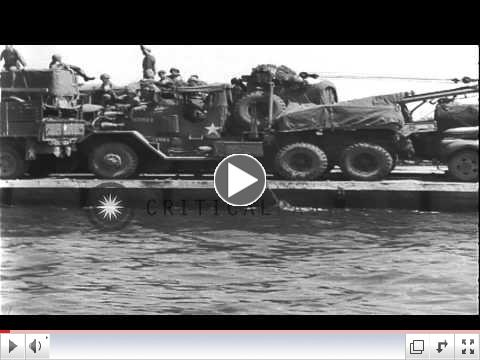 See a Rhino Ferry in Action at Utah Beach, 1944