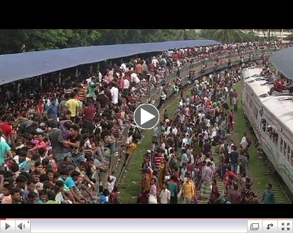End of Ramadan (Or Rush-Hour in Bangladesh)