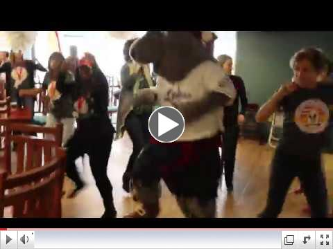 Staff, Volunteers, and guests at the Ronald McDonald House did a little dancing to encourage our friends at BobcaThon