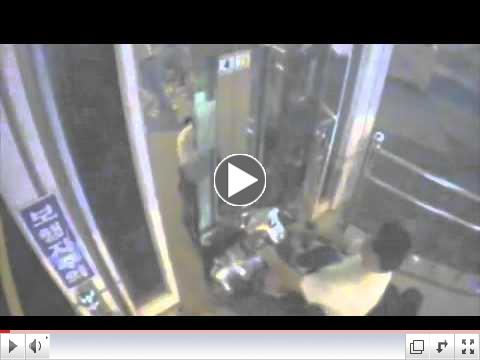 Guy patienly waits for elevator and gets on said elevator..flv