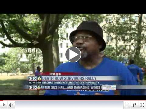 Exonerated death row inmates rally to end death penalty - Richmond, VA