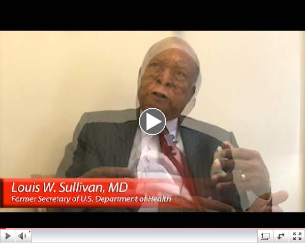 An Interview with Dr. Louis Sullivan
