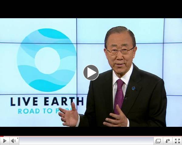 Live Earth Road to Paris - Ban Ki-moon