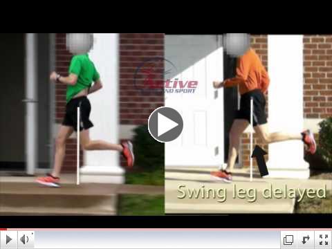 forward lean causing delayed swing through