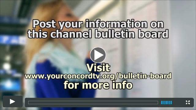 ConcordTV Bulletin Board