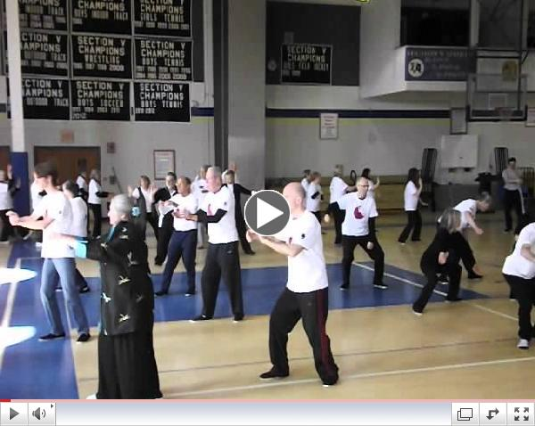 World Tai Chi Day at Brighton, NY HS.
