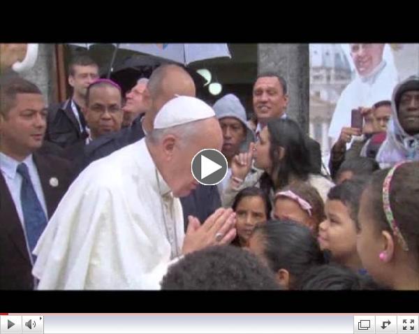 Pope Visits Brazilian Slum