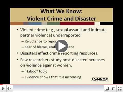 Post-Disaster Violence Against Women
