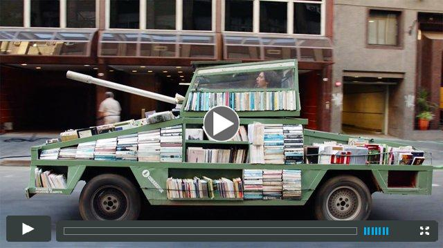Weapons of Mass Instruction: A 1979 Ford Falcon Converted in a Tank Armored with 900 Free Books
