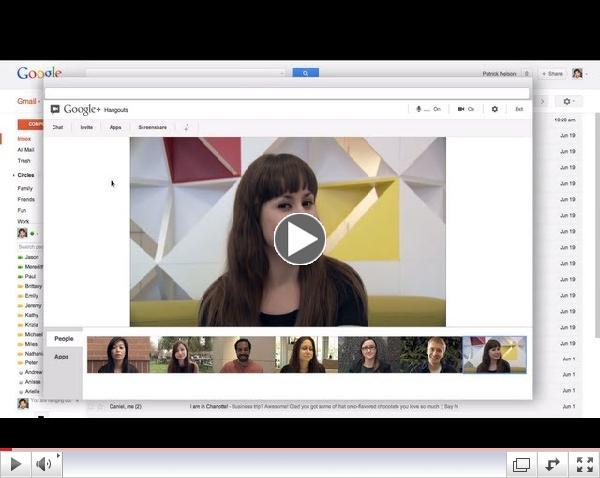 Hangouts in Gmail
